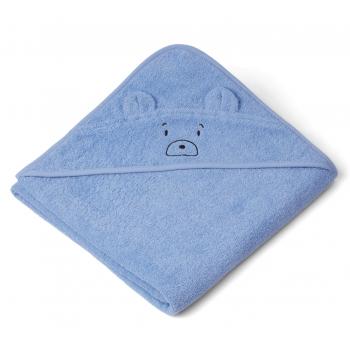 Mr Bear Hooded Towel in Sky Blue - Augusta