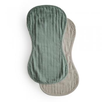 Burp Cloth 2-pack Green / Fog