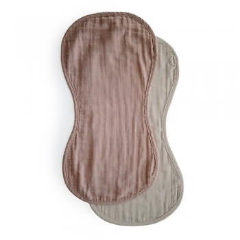 Burp Cloth 2-pack Natural / Fog