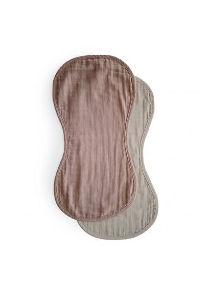 Burp Cloth 2-pack Natural / Fog