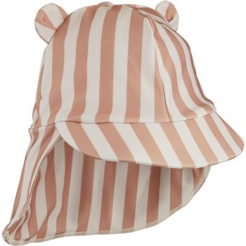 Sun Hat Senia Coral Blush/Cream Stripes