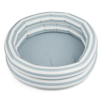 Leonore Sea Blue / Creme Stripes Small Pool