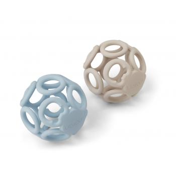 Teether Ball Jasmin Sandy/Blue Mix - 2-pack