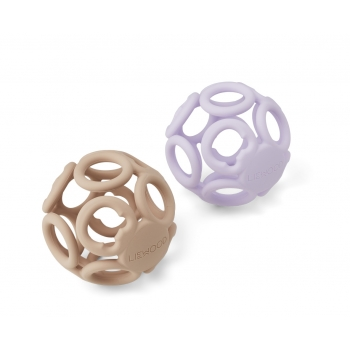 Teether Ball Jasmin Lavender/Rose Mix - 2-pack