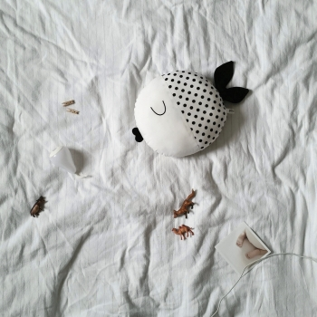 Fish Pillow with Dots - Wanda