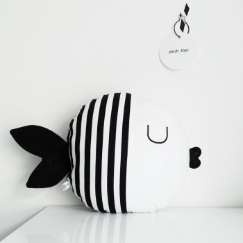 Fish Pillow with Stripes - Oscar