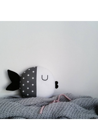 Grey Fish Pillow - Wanda
