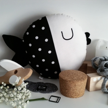 Black Fish Pillow - Wanda
