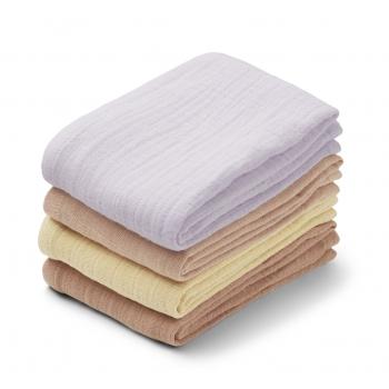 Leon Muslin Cloth Lavender Mix - 4 pack