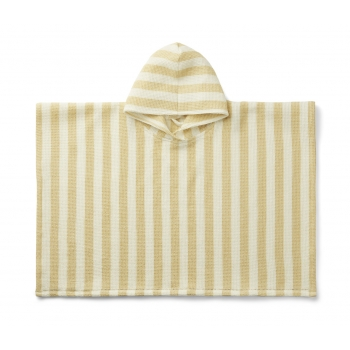 Yellow & Cream Stripes Paco Poncho
