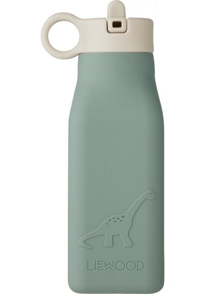 Warren Dino Silicone Water Bottle Peppermint