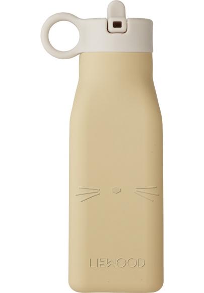 Warren Cat Silicone Water Bottle Yellow