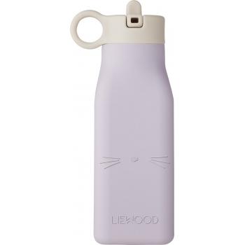 Warren Cat Silicone Water Bottle Light Lavender
