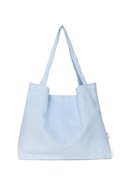 Baby Blue Rib Mom-Bag