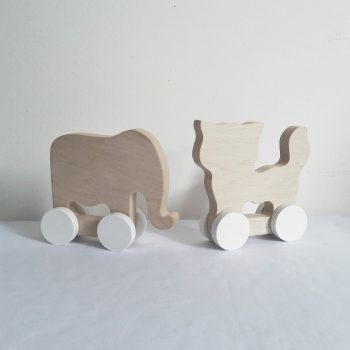 Wooden Toy Cat