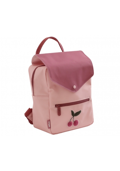 Cherry Print Small Backpack