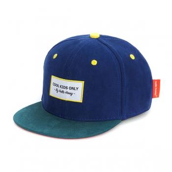 Suede Navy Cap