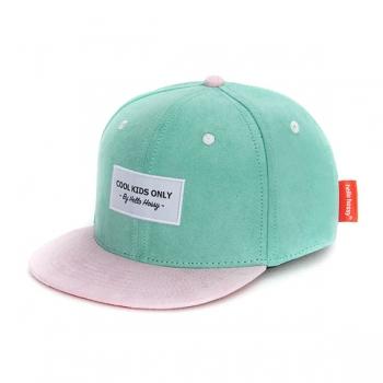 Suede Green Blue Cap