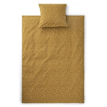 Graphic Stroke / Golden Caramel Carl Adult Bedding