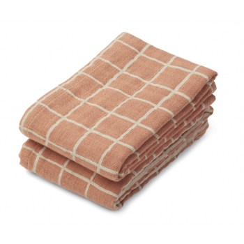 Check / Tuscany Rose Lewis Muslin Cloth 2-pack