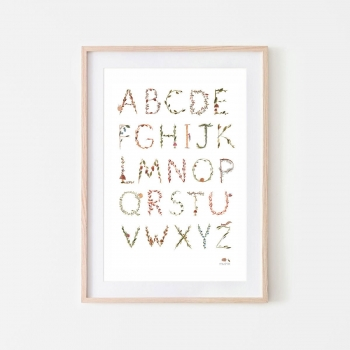 Large Alphabet Poster
