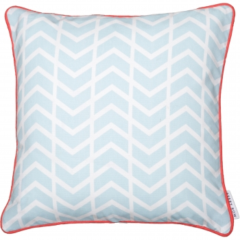 Blue Chevron Cushion - This Way That