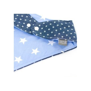 Double Sided Dribble Bib – Denim Love Blue