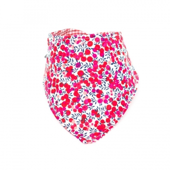 Double Sided Dribble Bib – Liberty Fuchsia