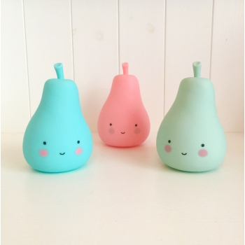 Pink Mini Pear Night Light