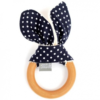 Navy Dot Teether