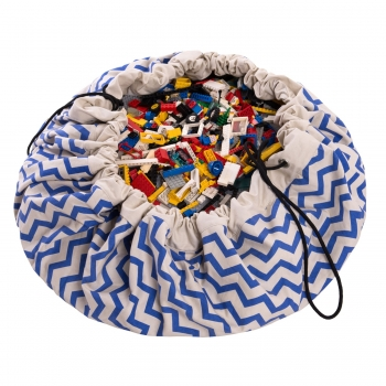 Blue Zigzag Storage Bag & Playmat