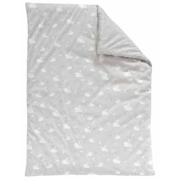 Swan Small Quilt - Grey