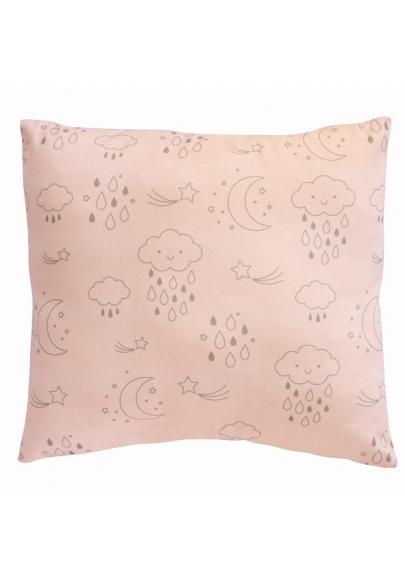 Moon & Stars Rose Cushion