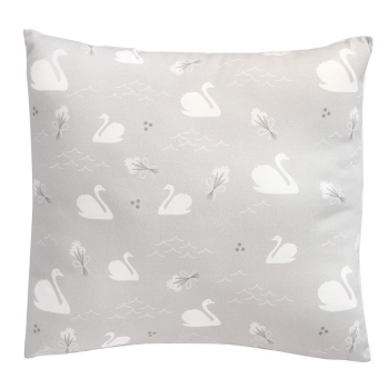 Grey Swan Cushion