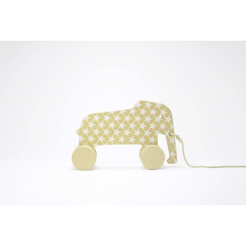 Pull Toy - Eddy the Elephant - White Stars