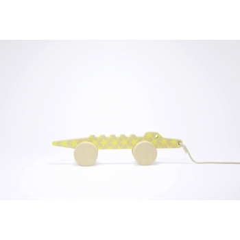 Pull Toy - Marcello the Alligator - Yellow Stars