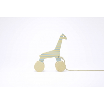 Pull Toy - Sofia the Giraffe - Blue Lines