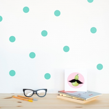 Mint Polka Dot Wallstickers