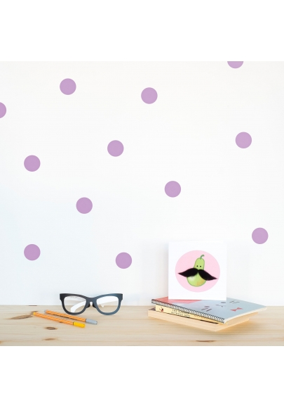 Lavender Polka Dot Wallstickers