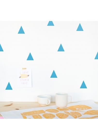Blue Triangle Wallstickers