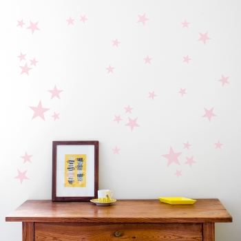 Pale Pink Star Wallstickers
