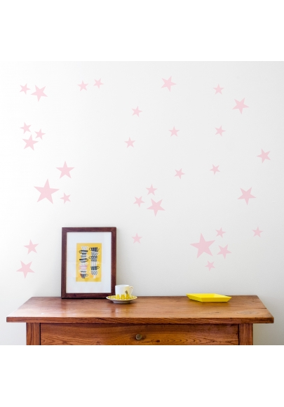 Pale Pink Star Wallstickers