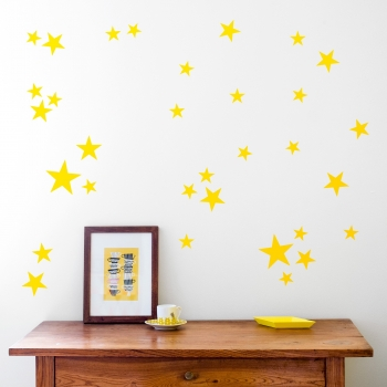 Yellow Star Wallstickers