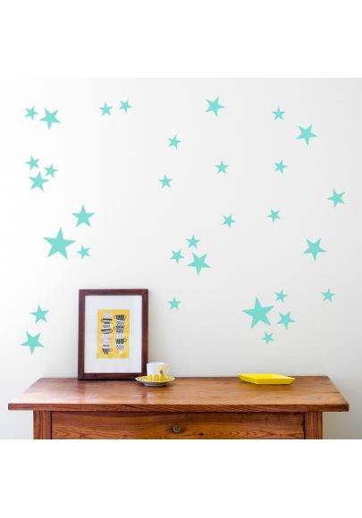 Mint Star Wallstickers