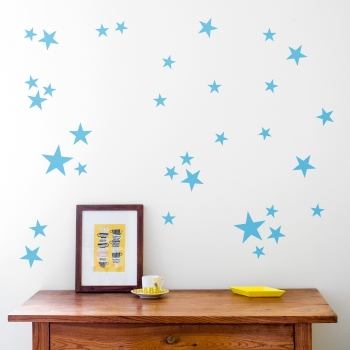 Blue Star Wallstickers