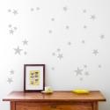 Silver Grey Star Wallstickers