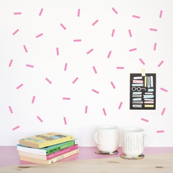 Pink Mini Sprinkle Wallstickers