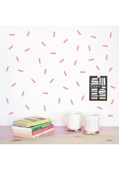 Pink Mini Sprinkle Wallstickers
