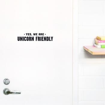 'Unicorn Friendly' Black Quote - Wallsticker