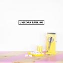 'Unicorn Parking' Black Quote - Wallsticker